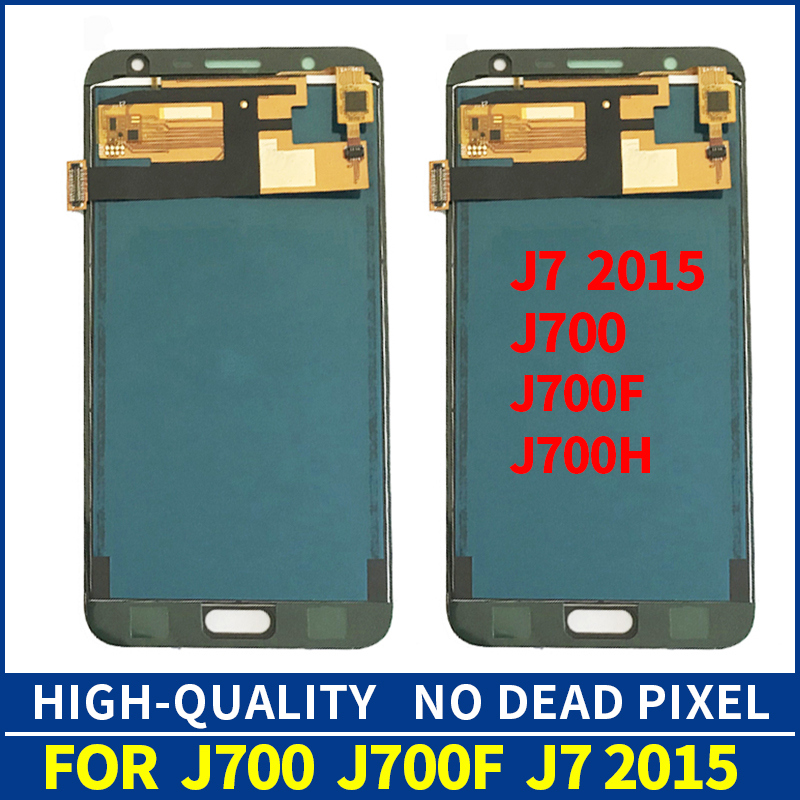 10pcs/lot J700F <font><b>LCD</b></font> For <font><b>Samsung</b></font> Galaxy J7 2015 <font><b>J700</b></font> J700H J700M SM-J700F <font><b>LCD</b></font> Display Touch Screen Digitizer Assembly Replacement image
