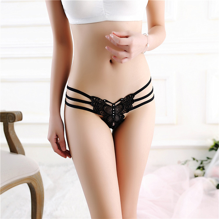 094025c2d047 Underwear Women Thongs And G Strings Tangas Women Sexy Lace butterfly  Bandage Thong Panties of Womens Underwear. 13135131. 1