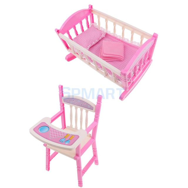 foldable doll baby toddler high chair doll carrier cradle crib