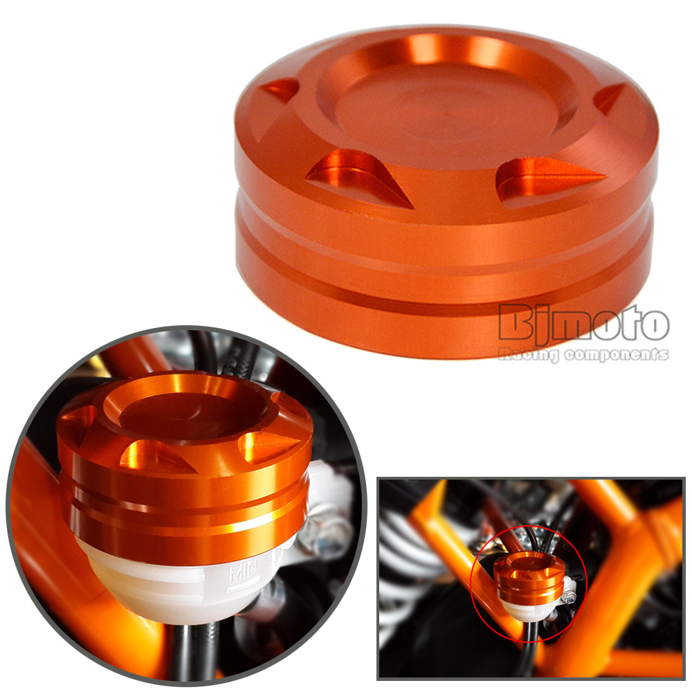 BJMOTO 2017 Motorcycle Aluminum CNC Engine Rear Fluid Reservoir Cap Cover For KTM DUKE 125 200 390 RC 125 200 390 for ktm 390 duke motorcycle leather pillon rear passenger seat orange color
