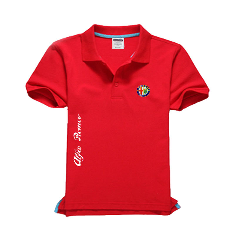 New Alfa Romeo logo Men's   Polo   Shirt High Quality Men Cotton Short Sleeve shirt Brands jerseys