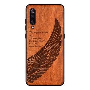 Image 2 - Резной деревянный чехол на заказ для Xiaomi Mi 9 SE, чехол funda для Xiaomi mi 10 mi 9 8 mi8 lite mix 3 2s, деревянный защитный чехол из ТПУ