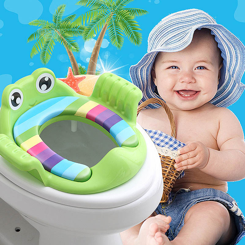Eco-friendly Baby Potties Soft Toilet Training Seat Children Trainer With Handle WC Assistant Potty Toilet Pad for Kid 1-6Y image