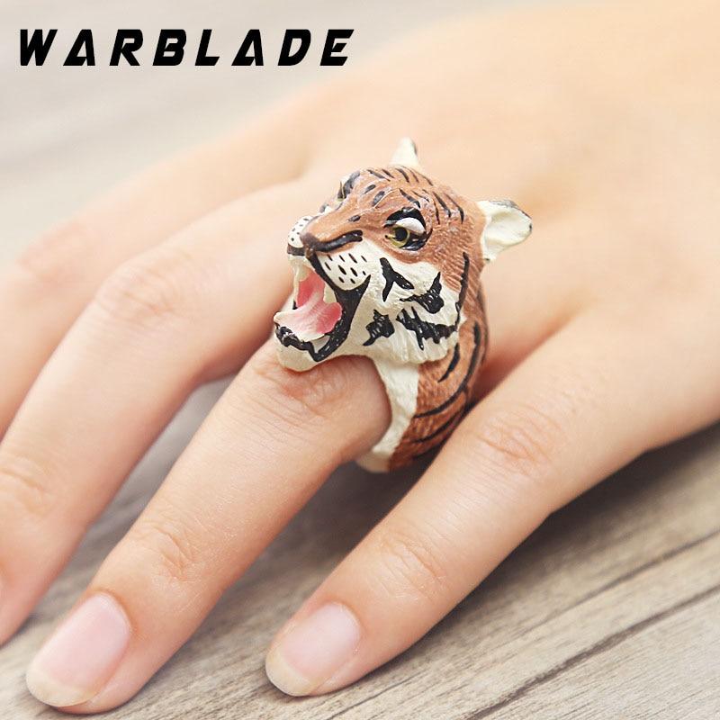 10pcs/lot Lovely Pink Pig Rings 3D Animal Finger Rings Cute Bulldog Cat Dog Rabbit Panda Cartoon Resin Cuff Ring Jewelry WBL