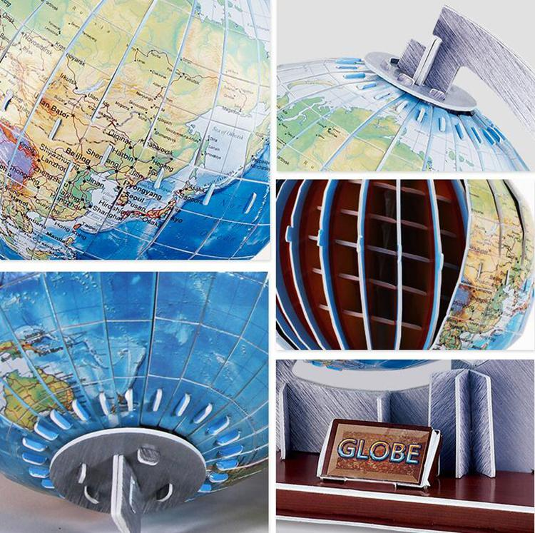 LeadingStar DIY Paper Puzzle Toys World Globe Model Jigsaw Puzzle Educational Paper Craft Model Toys for Children Adults zk30