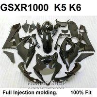 Дешевые литья Обтекатели для Suzuki GSXR1000 05 06 черный обтекатель для мотоцикла комплект GSXR 1000 2005 2006 VN31