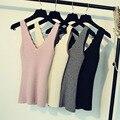 A Nova Primavera E Verão 2017 Doces Coloridos Suspensórios Mulheres Com Decote Em V Camisola Colete Cartilha