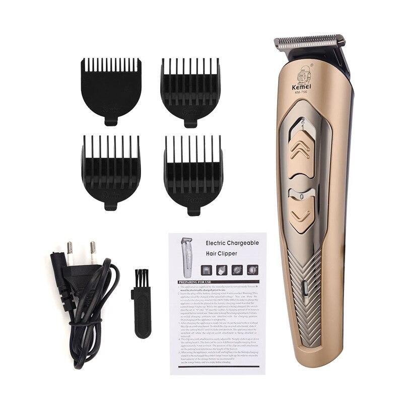 プロフェッショナル電動バリカン充電式切断機と 4 の長さの制限櫛散髪男性用 44 -