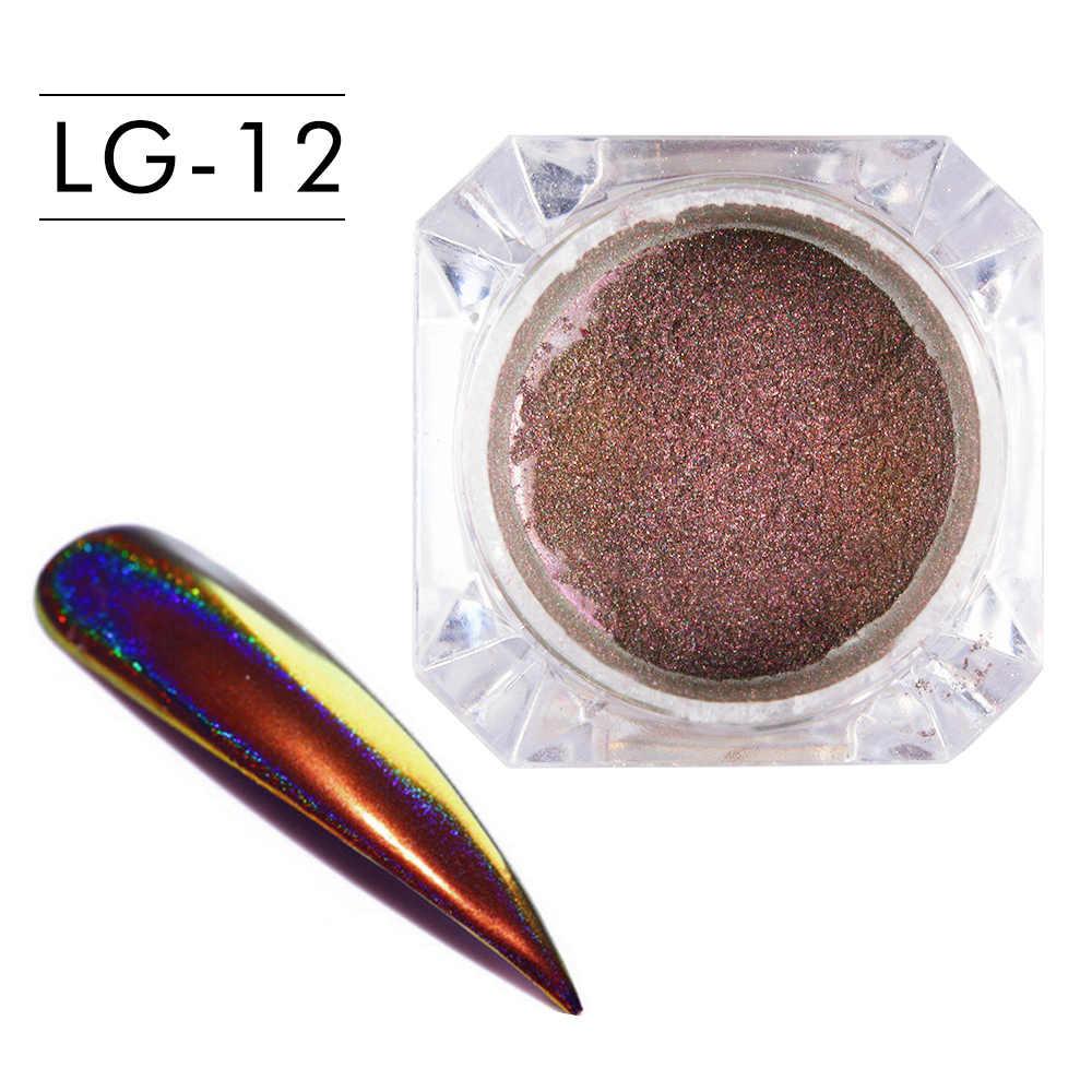 0.2g Peacock holograficzny kameleon Nail cekiny 2020 kolorowy Laser Glitter Powder pył Nail dekoracje artystyczne Pigment