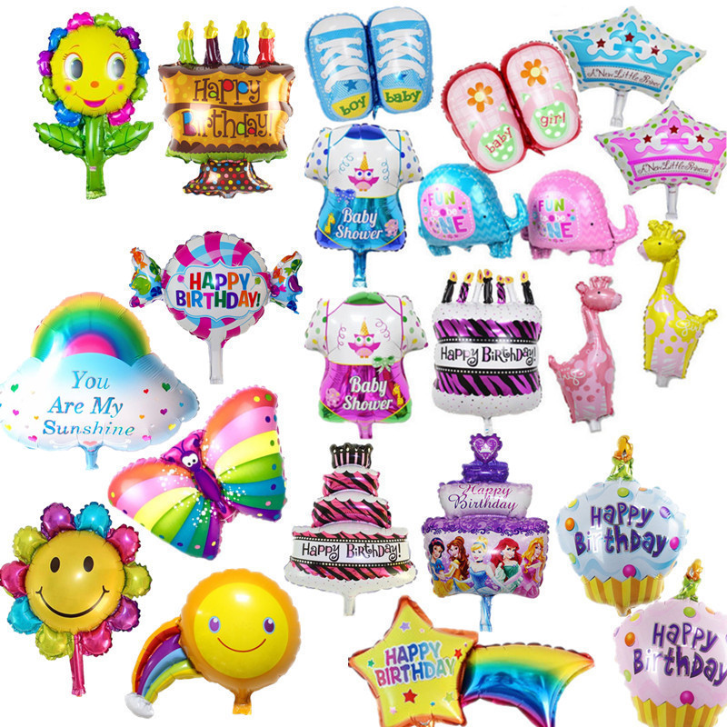 Kids birthday balloons Mini Crown number Balloons  Boy Happy birthday candy princess balloon 40*30cm(not include the stander)