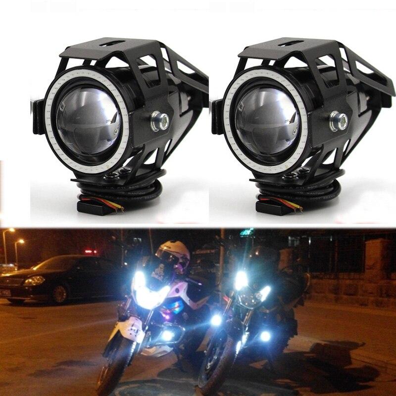 Prix pour Meetrock 2 pcs Moto Phare led U7 Moto Conduite brouillard feux de jour drl de Lampe De Lumière commutateur Moto Accessoires