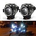 Meetrock 2 pcs motocicleta farol levou u7 motorbike driving nevoeiro daytime running luz drl lâmpada luz mudar acessórios de moto