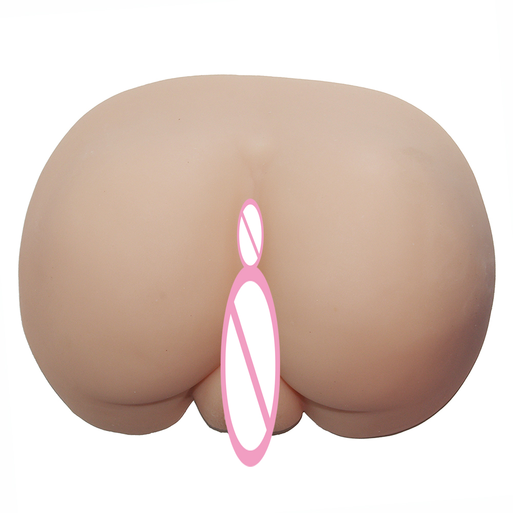Solid Silicone Big Ass Male Masturbation Live Vagina and Anus Live Sex Toys for Men Male Masturbator Silicone Pussy Fake Vagina big country live