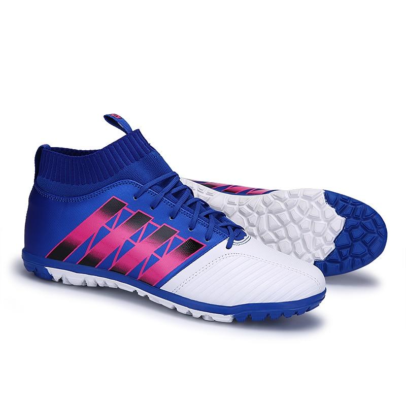 US $58.88 |FANCIHAWAY Size33 44 Fall2017 Nuovo TF di Alta Caviglia scarpe da calcio da uomo stivali ace bambini calcio tacchetti inferiori rossi