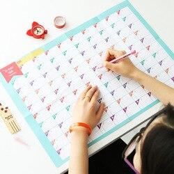 New Superdeal 100 Dias Contagem Regressiva Calendário Planejador Agenda Periódica de Aprendizagem Mesa de Presente Para Crianças Estudo Aprendizagem Suprimentos de Planejamento