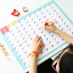 Novo superdeal 100 dia calendário de contagem regressiva programação de aprendizagem planejador periódico tabela presente para crianças estudo planejamento suprimentos aprendizagem