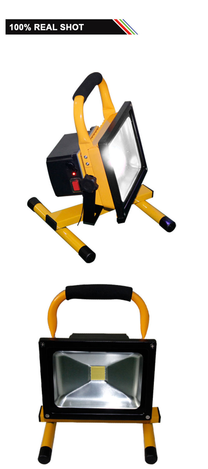 Free shipping Hand-Carry Rechargeable led floodlight 30W IP65 Waterproof Outdoor reflector LED potable light for working portable 10w rechargeable led flood light waterproof hand carry outdoor led floodlight with detachable battery freeship f024 1b
