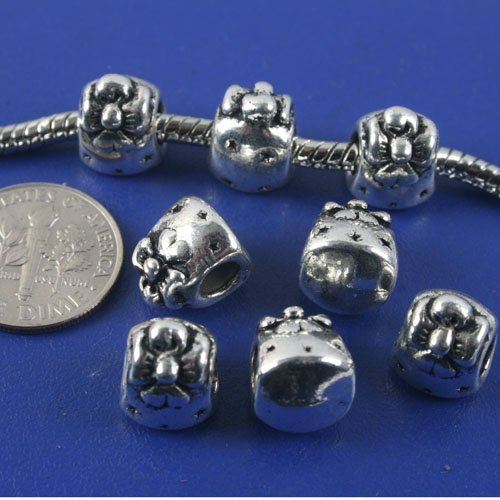 16pcs antiqued silver gift box spacer beads G1328
