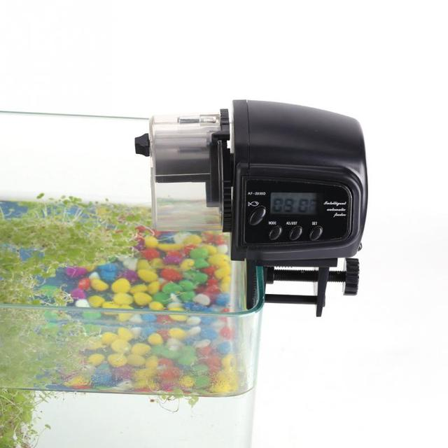 Electronic Automatic Fish Feeder 100mL Fish Tank Aquarium Digital LCD Timer Food Feeding Fish Food Feeder Dispenser Timer