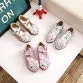 2017 novo gatinho Dos Desenhos Animados das crianças strass princesa sapatos rosa das meninas sapatos de festa sapatos de dança crianças vestido sapatos formal sh
