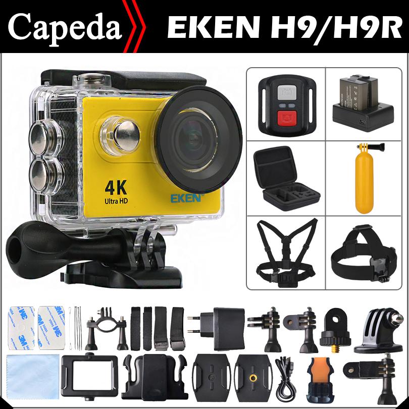 """Prix pour D'origine EKEN H9/H9R Ultra HD 4 K/25fps À Distance WiFi 2.0 """"LCD étanche Casque Cam sous-marine Sport Action caméra"""