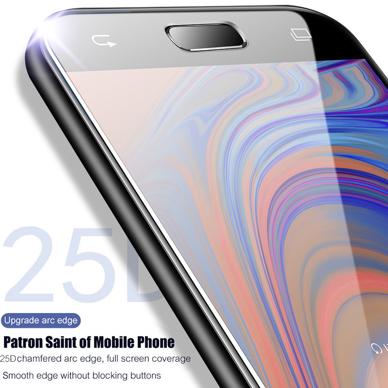 Image 5 - 25D Curved Protective Glass on the For Samsung Galaxy A3 A5 A7 J3 J5 2017 J4 J6 A8 A6 Plus 2018 Tempered Screen Protector Glass-in Phone Screen Protectors from Cellphones & Telecommunications