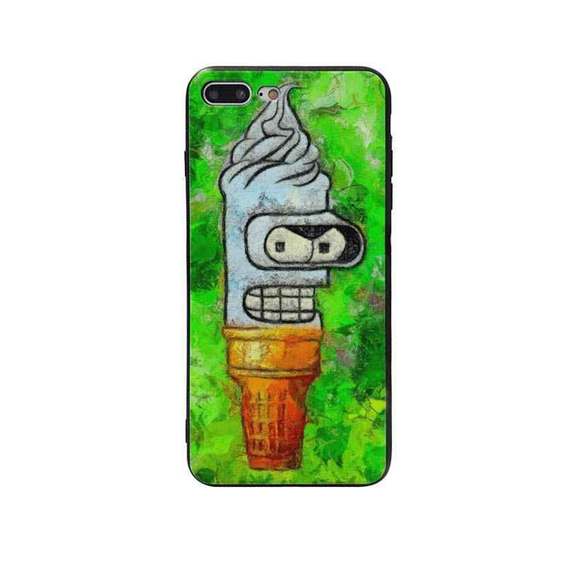 Yinuoda Futurama Мягкая силиконовая задняя крышка Coque для Apple iPhone 8 7 6 6 S Plus X XS MAX 5 5S SE XR мобильные чехлы