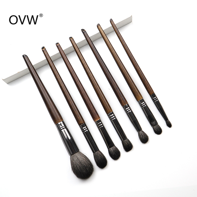 OVW All Goat Hair 7/8/9 PCS Makeup Brush Set Professional Cosmetic conjunto pinceis de maquiagem for Eye Shadow Face Contour 3