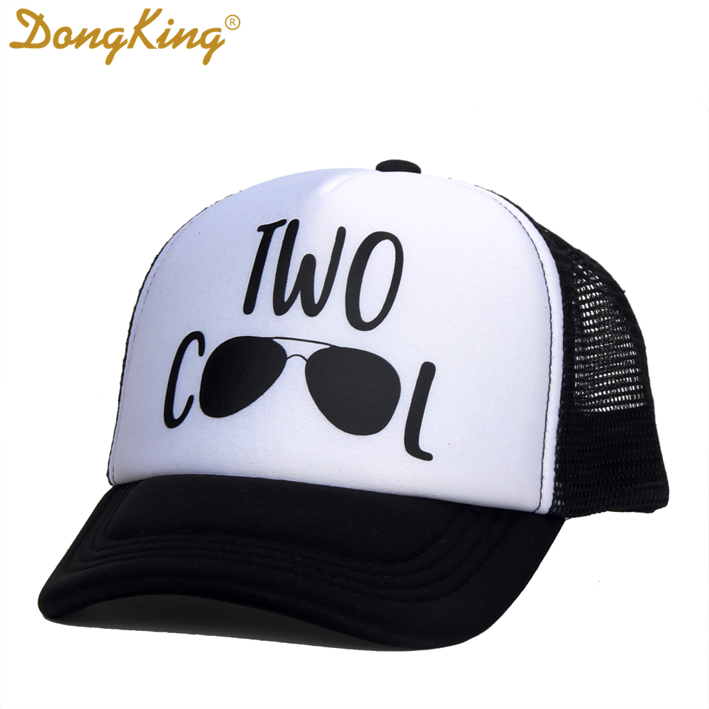d8f7feb03fd DongKing Kids Birthday Trucker Hat Two Cool Baby Trucker Caps Cool Hats 2  Years Old Baby Gift Boy Girls Birthday Gifts-in Baseball Caps from Apparel  ...