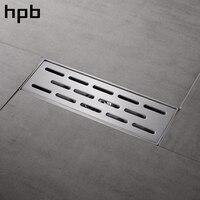 HPB 30 x 10cm Square Floor Drain Stainless Steel 304 Anti odor Floor Drain Bathroom Invisible Shower Long Drainer HP7913