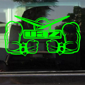 CK2044#37*20cm 22*12cm UAZ power funny car sticker vinyl decal silver/black car auto stickers for car bumper window car decor недорого