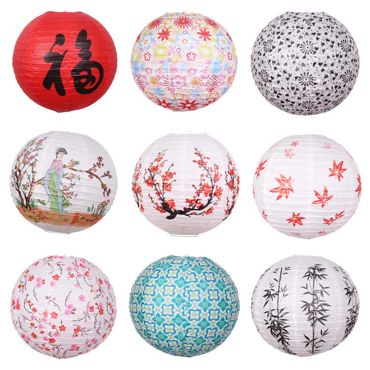 "16"" 40cm Chinese Round Paper Lantern Baby Shower Birthday Wedding Christmas Bedroom Home Garden Decoration Party Supplies"