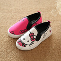 2016 Primavera Verano Otoño Muchachas de la Historieta Del Bebé Zapatillas de Lona Hello Kitty Niños Niños Niñas Zapatos Casuales