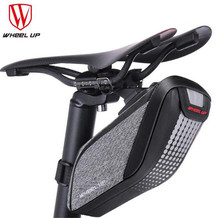 WHEEL UP Rainproof Bicycle Bag Bike Saddle Cycling Tail Rear Pouch 3D Shell Reflective