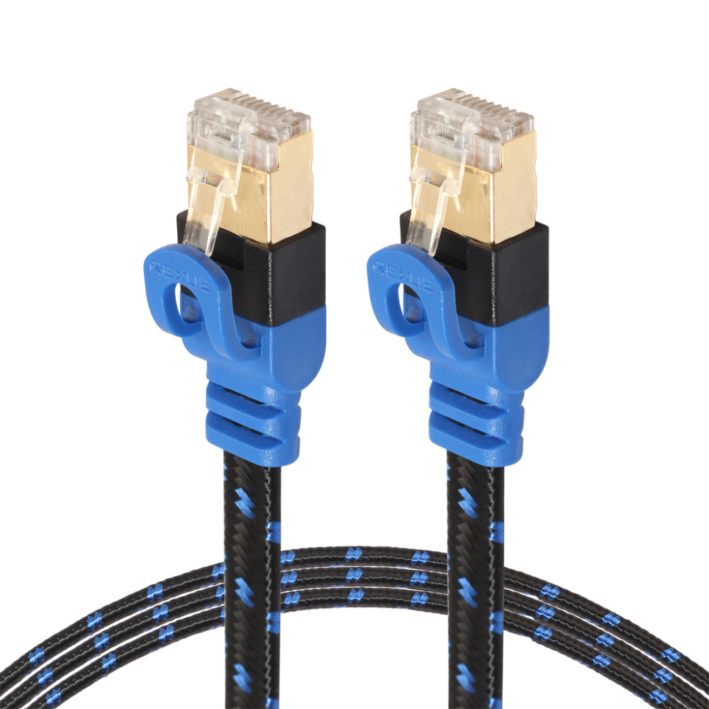 Efluky Cat7 Ethernet Cable Double Shielded High Speed Computer Internet Flat LAN Network Cable With RJ45 Connectors For Modem