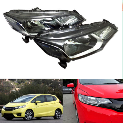 Headlight Lamp Assembly Set  NEW For honda Fit/Jazz Hatchback 2015-2016 right combination headlight assembly for lifan s4121200