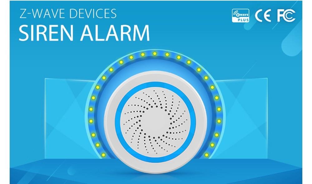 Livraison gratuite sirène d'alarme Zwave alimentée par batterie peut également être chargée avec un capteur d'alarme de sirène USB pour la domotique Z Wave