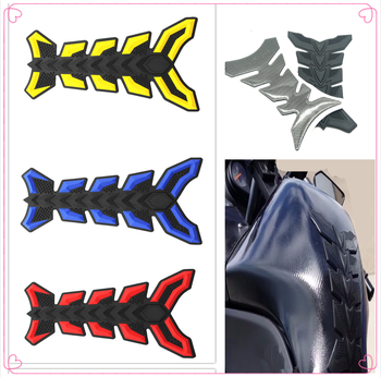 Motorcycle fish Pad Oil Gas Fuel Tank Cover Sticker Decal Protector for BMW K1200S K1300 S/R/GT S1000RR HONDA CBR125R CRF250R image