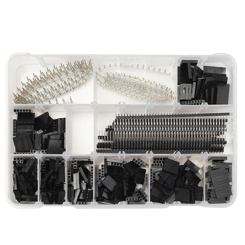 1450 개/대 2.54mm dupont 커넥터 키트 pcb 헤더 male female pins electronics