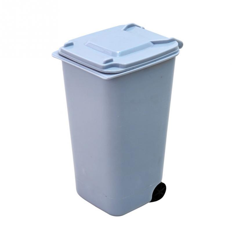 plastic trash cover type kitchen kitchen trash can home decorative bathroom paper trash cans mini dustbin 650ml - Decorative Trash Cans