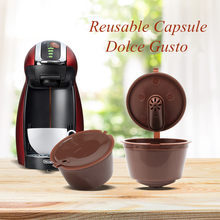 New 3rd Generation Dolce Gusto Coffee Capsules Filter Cup Refillable Reusable Coffee Dripper Tea Baskets Dolci Gusto Capsule(China)