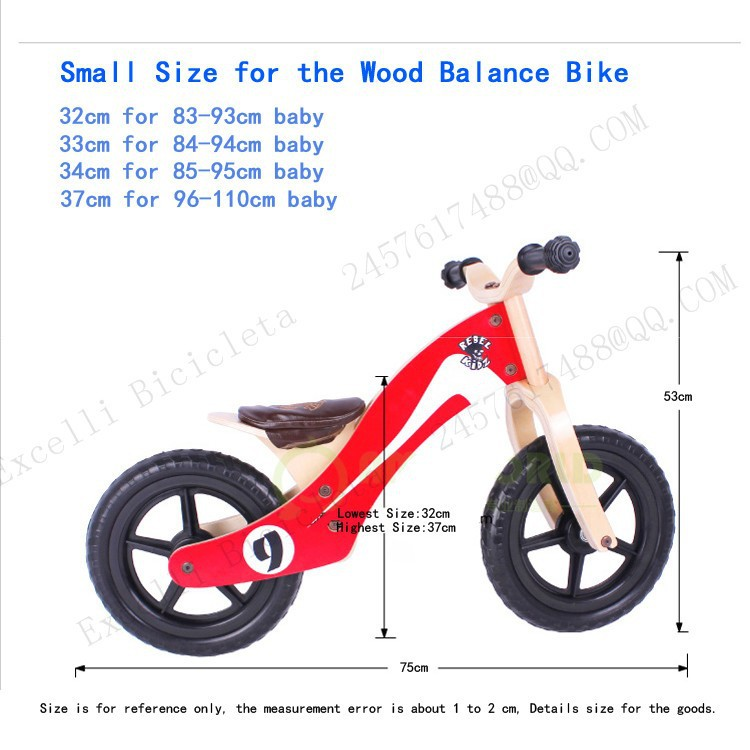 b13-Baby two wheels Wood Balance Bike for 2-6 Years age Bicicleta Infantil Balance Bike Kid's bicycle Common Childen's Cycling