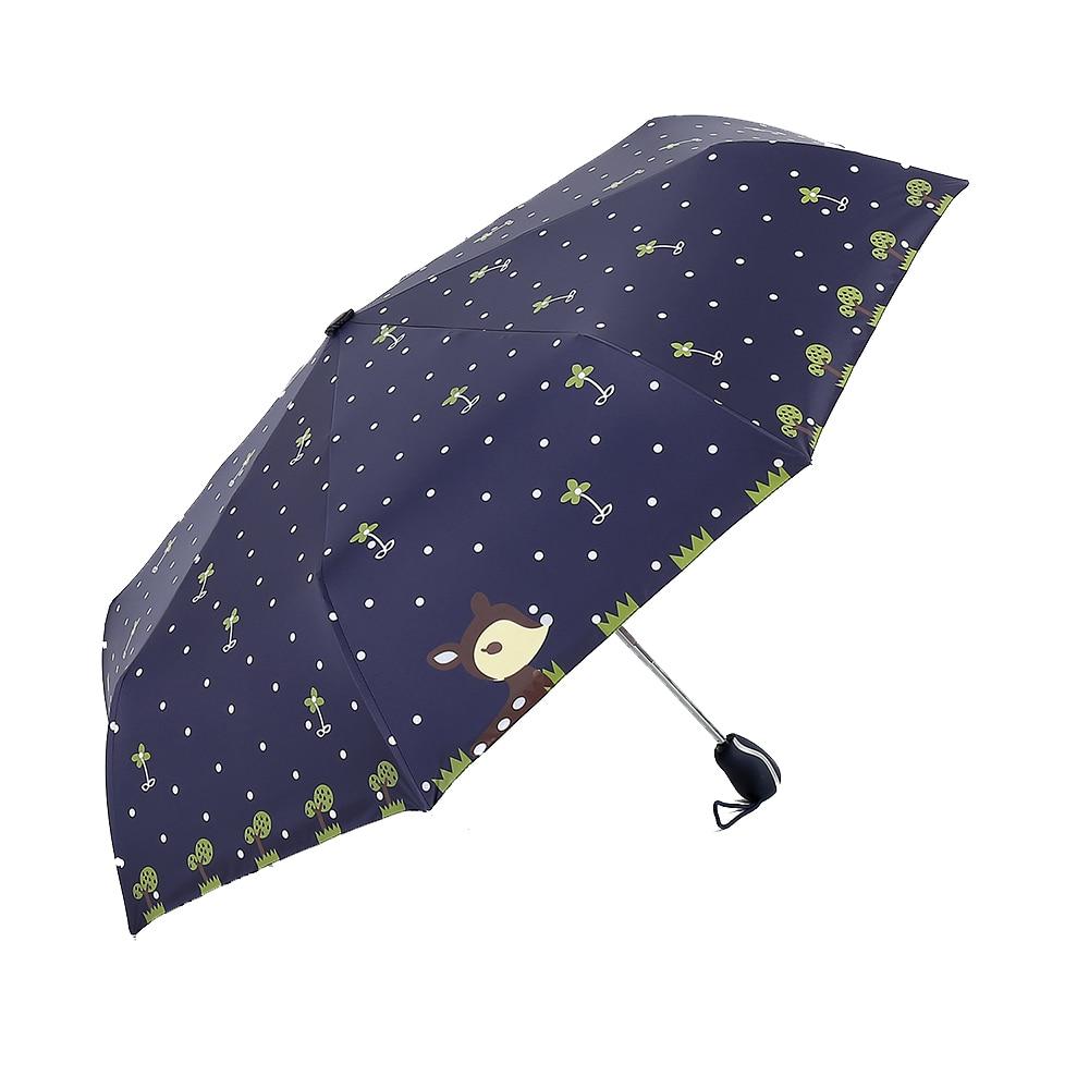 Folding Umbrella Rain Women Top Quality Automatic Sun Umbrellas Anti UV  Cute Cartoon Pattern Portable Black Coating 8K Parasol - us26 3c358825af8