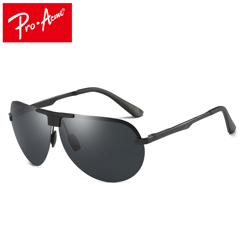 Pro Acme Aviator HD Polarized Sunglasses Men Brand Designer Night Driving Enhanced Light anti-glare Glasses Male Shades PA0999