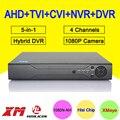 Hisi Chip Caja de Metal 1080 P/1080N/960 P/720 P/960 H 5 en 1 Coxail 4 Canales NVR CVI TVI AHD DVR Solamente El Envío A rusia