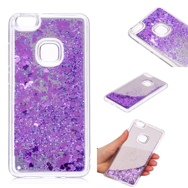 dulcii for huawei p10 lite phone case glitter moving quicksand