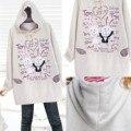 Hoodies maternidade clothing coelho algodão maternidade top outono inverno camisola roupas de gravidez para as mulheres grávidas 2017