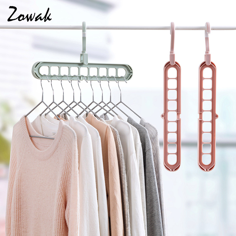 Plastic Hanger Holder Clothes Storage Rack Rotating Hook Organizer Closet Drying
