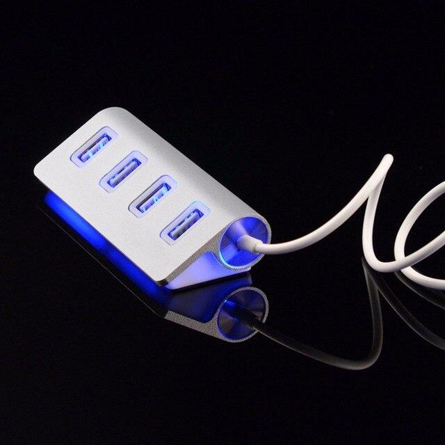 Chất lượng cao led Mini 4 Port HUB Tốc Độ Cao USB 2.0 Hub Splitter Adapter với Cáp Đối Với Macbook PC Máy Tính Xách Tay