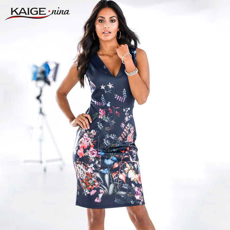 d500eb68ce4 2018 Mini Fashion Leisure Summer Dress Personality Dresses Hot Sale Women  Apparel High Quality Printing V Neck Sleeveless 1814-in Dresses from Women s  ...
